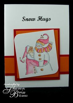 Bundle  Sunday - artwork by Sharon Briss using RRD's Snow Hugs and Candy Kisses collections