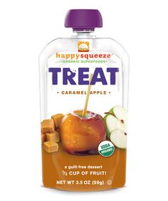 Caramel Apple Happy Squeeze Organic Treat Pouch - Set of 12