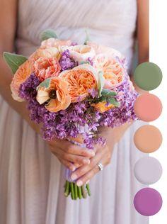 Orange & Purple | Bridesmaids
