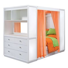 Nickelodeon Rooms 4 piece TweenNick The Retreat Full Kids Bed, White