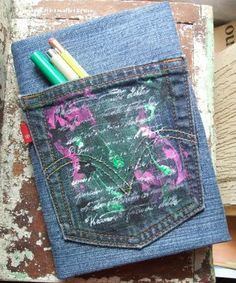 reuse denim as a book cover, a denim rug, pot holder, quilts, roses and other ideas!