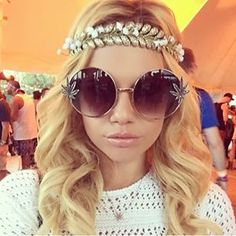 Chanel Westcoast in Gardenhead Head Piece  at Coachella \\ #NastyGalsDoItBetter > https://instagram.com/p/1tlBzAto8S/