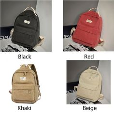 5a8526581cbb Unique High School Bag Leisure Student Travel Canvas Backpack ...