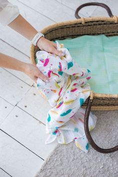 Organic Cotton Swaddle Muslin Blanket Newborn Baby Wrap Swaddling Blanket 0-3M