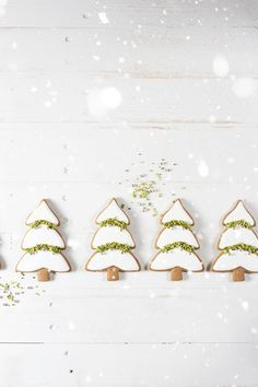 Snowy Evergreen Trees Cookies