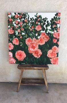 Gartenrosen - - drawing/ painting - Painting Tips Small Canvas Art, Mini Canvas Art, Aesthetic Painting, Aesthetic Art, Aesthetic Drawing, Art Mini Toile, Art Diy, Diy Artwork, Art Paintings