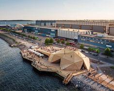 Public sauna opens as a timber-clad 'coastal park' on Helsinki waterfront