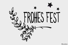Frohes Fest - Möbeltattoo von Monkimia - Möbeltattoos, Wandtattoos, Aufkleber, Karten, Kalender, Poster auf DaWanda.com