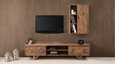 Alba Ahşap Tv Ünitesi Home Studio Music, Tv Sets, Framed Tv, Tv Unit, Ikea, Living Room, Modern, Tv Walls, Tvs