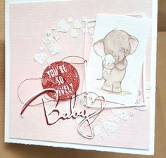 Card for baby girl made by Jo-An Creations inspired by Alexandra Renke