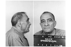 The man for whom the country's largest Mafia outfit is named, Vito Genovese is pictured here in the last photo taken of the organized crime titan. Imprisoned at the federal medical center in Springfield, Missouri, Genovese died two weeks after this mug shot was taken.