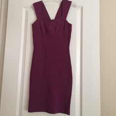 All dressed $20 Purple bodycon dress sized s! Only worm once! In bend new condition. Will throw in free gold hoops if bought in 4 days! Express Dresses