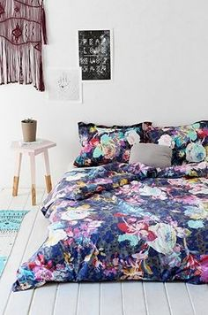 Plum & Bow Luna Flower Duvet Cover by Urban Outfitters