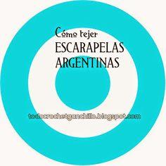 Tutorial como tejer escarapelas argentinas al crochet