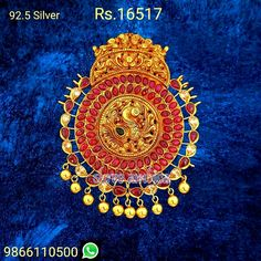 Temple Jewellery in pure silver Shree Ambica pearls and Jewellers, Hyderabad 9866110500 Temple Jewellery, Hyderabad, Silver Jewelry, Tapestry, Necklaces, Jewels, Pure Products, Hanging Tapestry, Tapestries