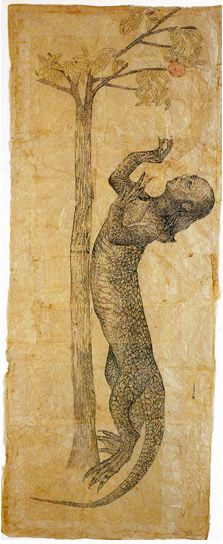 Kiki Smith, Play (Serpent with Apple)