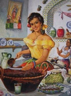 Mexican pin ups Mexican Artwork, Mexican Paintings, Mexican Folk Art, Mexican Style, Mexican Girls, Mexican Artists, Jesus Helguera, Beautiful Mexican Women, Pin Up