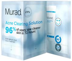 Sephora Printable Free Sample Voucher for Murad Acne Clearing Solution – US Free Beauty Samples, Free Makeup Samples, Free Cosmetic Samples, Free Samples Without Surveys, Salicylic Acid, Free Baby Stuff, Acne Treatment, Beauty Secrets, Good To Know