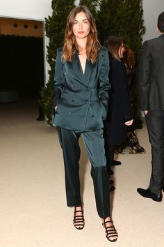 Model Style: Andreea Diaconu Shows Us How To Pull Off A Satin Suit