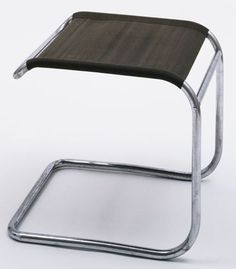 Marcel Breuer Stool (model 1932 Manufactured by Gebruder Thonet, Austria Chrome-plated tubular steel and Eisengarn
