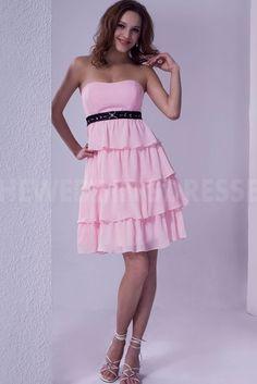 Pink Satin Strapless Cocktail Dresses - Order Link: http://www.theweddingdresses.com/pink-satin-strapless-cocktail-dresses-twdn4215.html - Embellishments: Ruffles; Length: Floor Length; Fabric: Satin; Waist: Natural - Price: 186.9916USD
