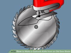 Image titled Make a Guthook Knife from an Old Saw Blade Step 3