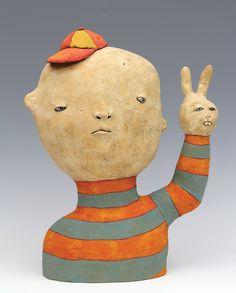 """Peace, Rabbit"" by Sara Swink, ceramic #Art #Ceramics"