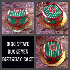 Ohio State Buckeyes Birthday Cake | - Springboro, Ohio - Tiffany's Creative Cakes Springboro Ohio, Ohio State Buckeyes, Birthday Ideas, Birthday Cake, Creative Cakes, Cake Designs, Cake Ideas, Food To Make, Cake Decorating