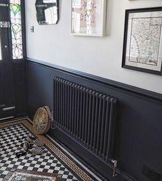 Flur Design, Home Design, Interior Design, 1930s House Interior, Interior Ideas, Hall Interior, Color Interior, Interior Stairs, Interior Paint
