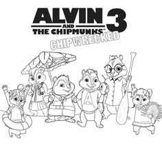 die 11 besten bilder zu alvin und die chipmunks ausmalbilder | alvin und die chipmunks