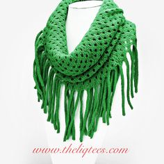 Green, fringed infinity scarf! Super cute! Get yours www.theliqtees.com!!!!