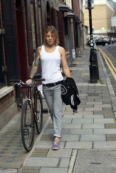 Girls and Tattoos. Bicycles Love Girls. http://bicycleslovegirls.tumblr.com