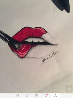 how to draw simple lips
