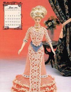 June 1996 Calendar Bed Doll Society Crochet Pattern Book Annies Attic