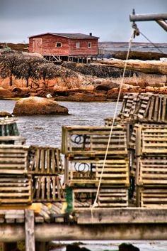 Newfoundland and Labrador, Canada Newfoundland Canada, Newfoundland And Labrador, O Canada, Canada Travel, Lighthouse Wedding, Lobster Trap, I Am Canadian, Gypsy Living, Holiday Places