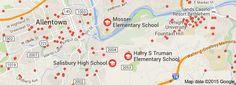 Map of SCHOOL