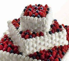 Berries and cake