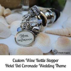 Hotel Del Bottle Stopper Wedding Theme one of the first gifts to be given in the @delcorondao  #delmemories giveaway! #CLcustomgifts