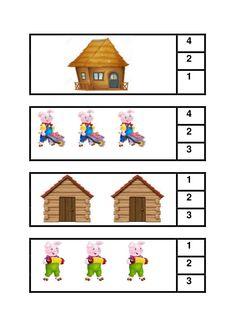 Los tres cerditos Preschool Themes, Preschool Lessons, Three Little Pigs Story, Fairy Tale Crafts, Phonics Flashcards, Alphabet Sounds, Nativity Crafts, Kindergarten Classroom, Book Activities
