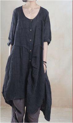 Linen Top in Black