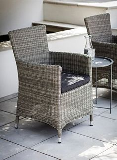 Dimensions: H89 x W62 x D60cm Crafted in PE Rattan Cushion is 100% Polyester and is showerproof