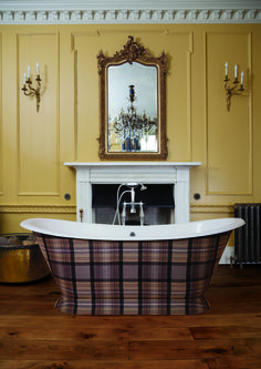 The Cairngorms; Evocative, Wild, Beautiful...  The Eastern Highlands of Scotland conjures up the most delightful and stunning imagery, that's why one of our clients has elected to wrap their classically shaped Galleon cast iron bath in special fabric that bears the name of this majestic landscape.     At Hurlingham we believe your bath is your sanctuary, and we help take you on a  journey to wherever your heart and soul desires.