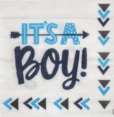 """Grab these baby blue and navy """"It's a Boy!"""" napkins to announce the kiddo's gender in style. Shop our extensive line of baby party supplies to easily host your next baby shower or baby sprinkle. Baby Shower Napkins, Baby Shower Cakes, Baby Boy Shower, Baby Shower Party Supplies, Baby Shower Parties, Baby Showers, Baby Gender Reveal Party, Gender Neutral Baby Shower, Balloon Delivery"""