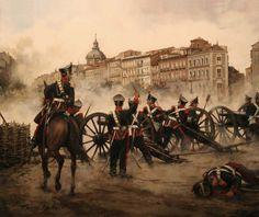 Artillería en los alrededores de la calle Alcalá - 14 de Julio de 1856. Más en www.elgrancapitan.org/foro