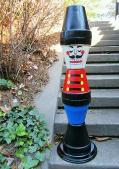 DIY Terra Cotta Pots Nutcracker