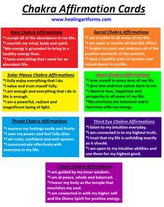Chakra Affirmation Cards este é um modo de fazer de vc seu proprio altar.