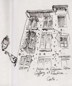 Sous la mitraille - Place Gaffory, Corsica