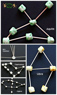 Marshmallow Constellations are such a fun, clever, hands on way for kids to learn about stars in the solar system (homeschool, science project, 1st grade, 2nd grade, 3rd grade)