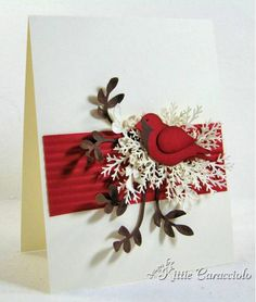 Pretty bird card by Kittie Caracciolo