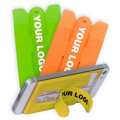 Silicone Phone Stand and Smart Wallet Card Holder -- great for holding your ID for a night on the town or making it easier to see your phone at work!